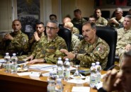 Kabul - Il Comandante del Nato Allied Joint Force Command Brunssum, Generale Salvatore Farina, in visita al Train Advise Assist Command West di Herat