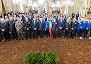 Rome - Military World Games: Mattarella Hands the Tricolor to the Blue Team