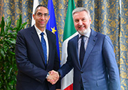 Roma - Defence Ministry: Lorenzo Guerini meets his counterpart from the Republic of Cyprus